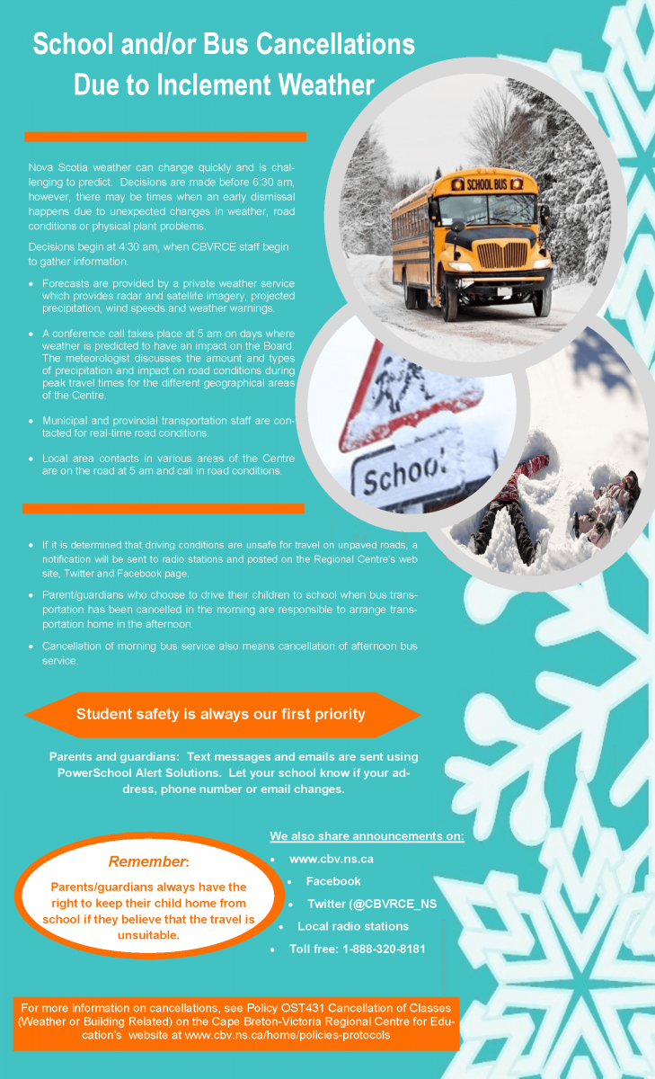 School and/or Bus Cancellations | CB-VRCE Home