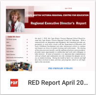 Regional Education Director Report April 2018