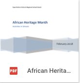 African Heritage Month Activities